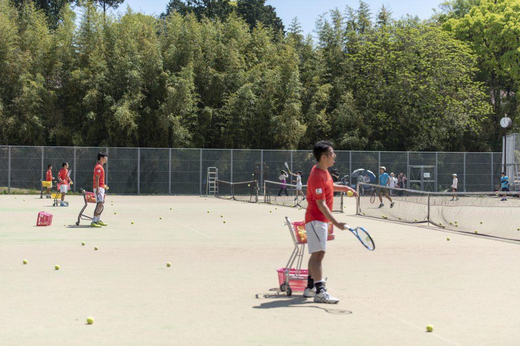 テニス部 講習 4名