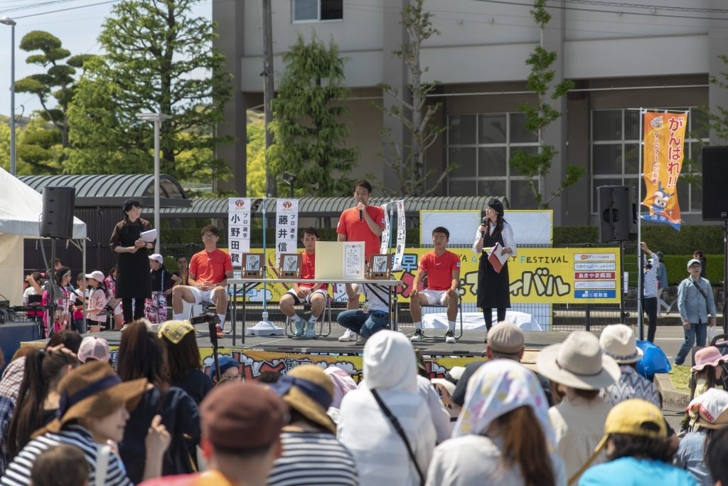 諫早グルメフェスティバル 第33回テニス日本リーグの結果報告と個人表彰
